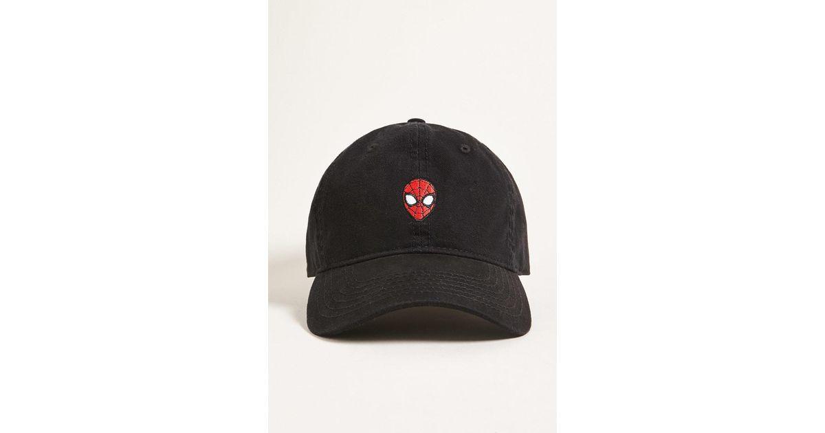 Lyst - Forever 21 Men Spiderman Dad Cap in Black for Men 265b3d6ef0fa