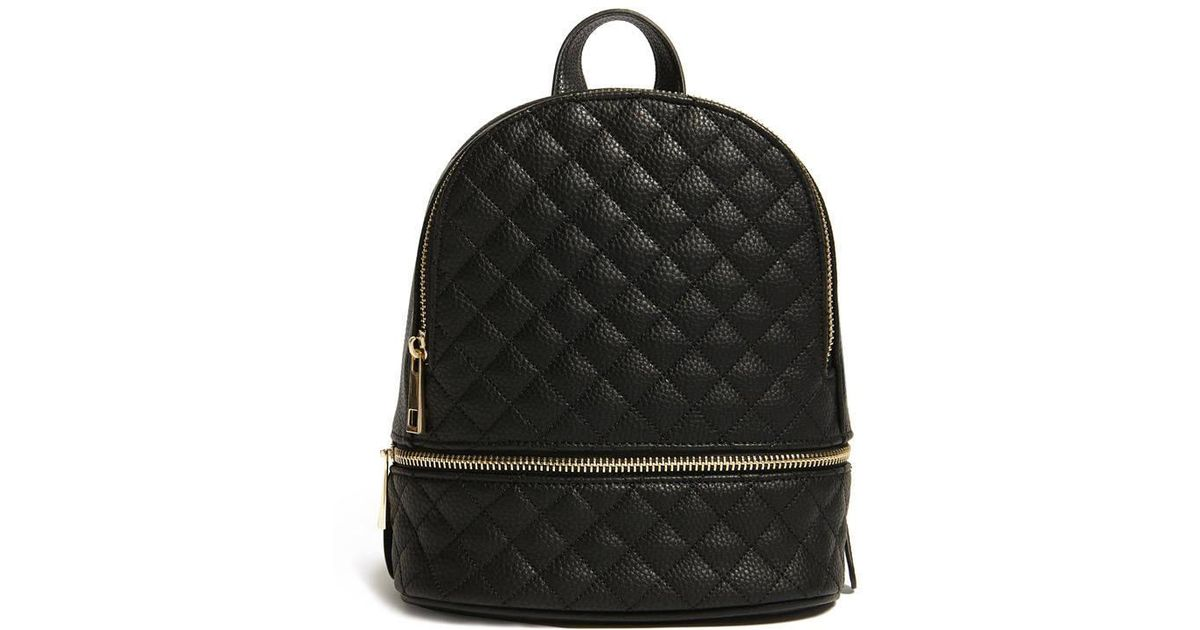 Lyst - Forever 21 Faux Leather Mini Backpack in Black 1c173e3bda74c
