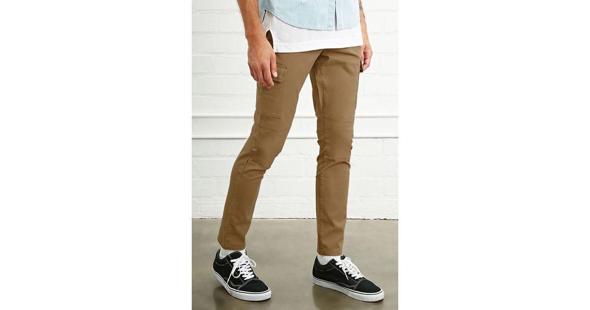 Forever 21 Slim Fit Cargo Pants In Black For Men Lyst