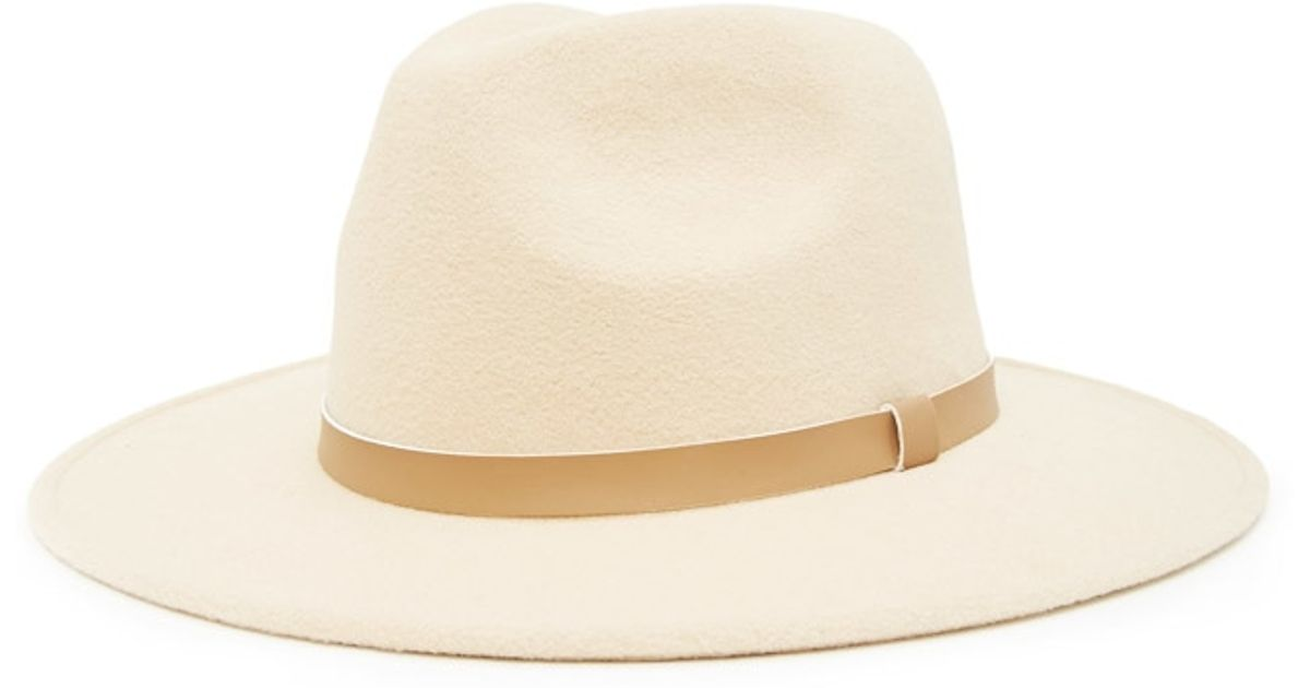 5b8338267c3 Lyst - Forever 21 Men Faux Leather Ribbon Fedora in Natural for Men