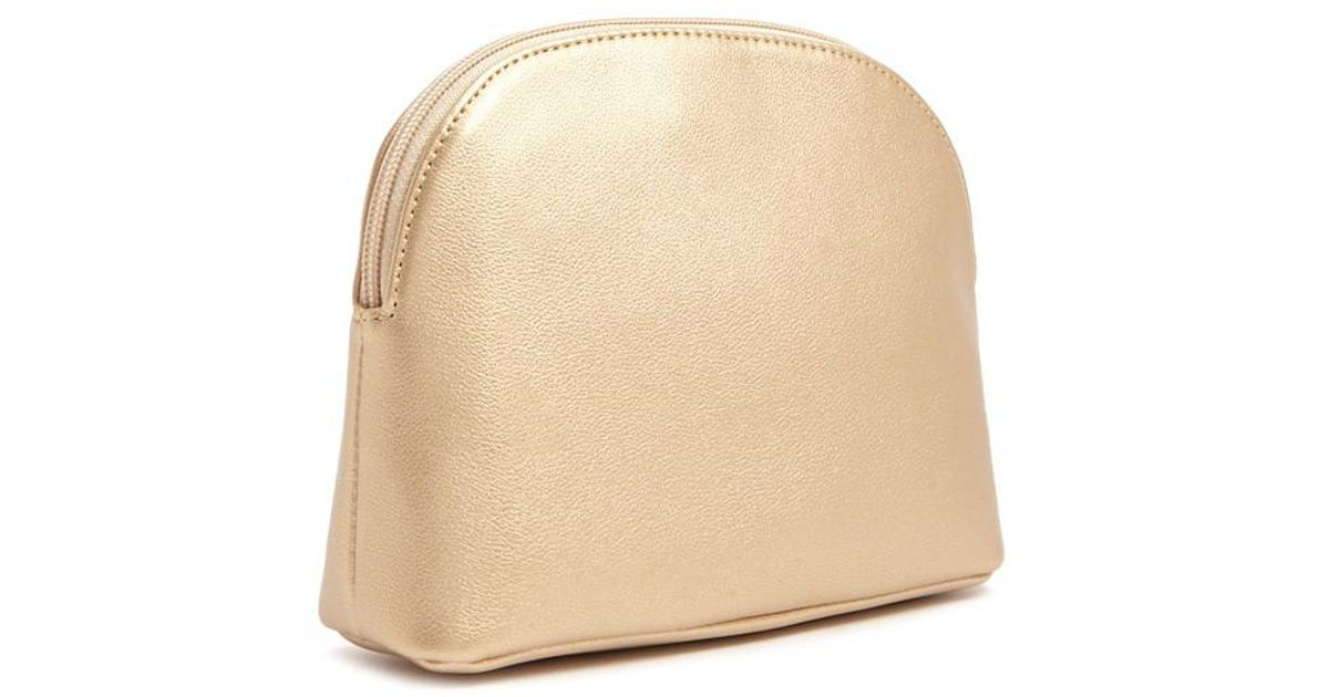 c8c80bd14f7 Forever 21 Faux Leather Makeup Bag in Metallic - Lyst