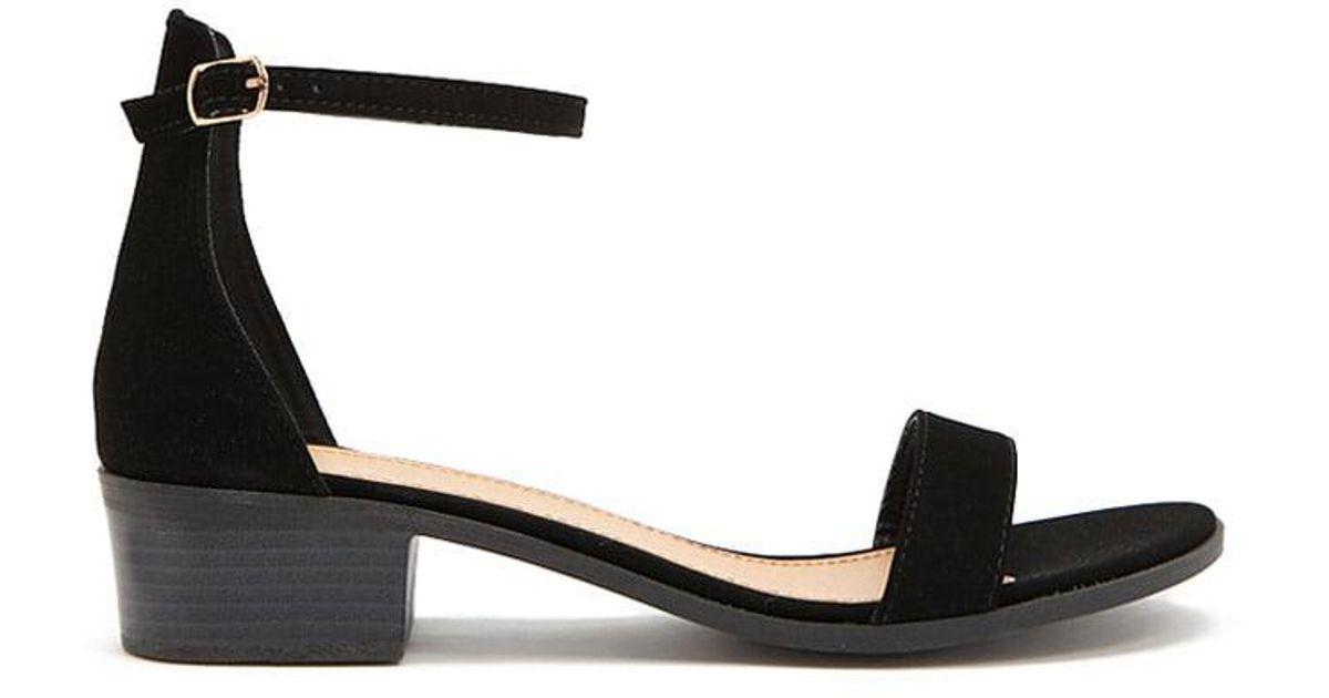 f7e9e6af25b Lyst - Forever 21 Qupid Single-strap Block Heels in Black