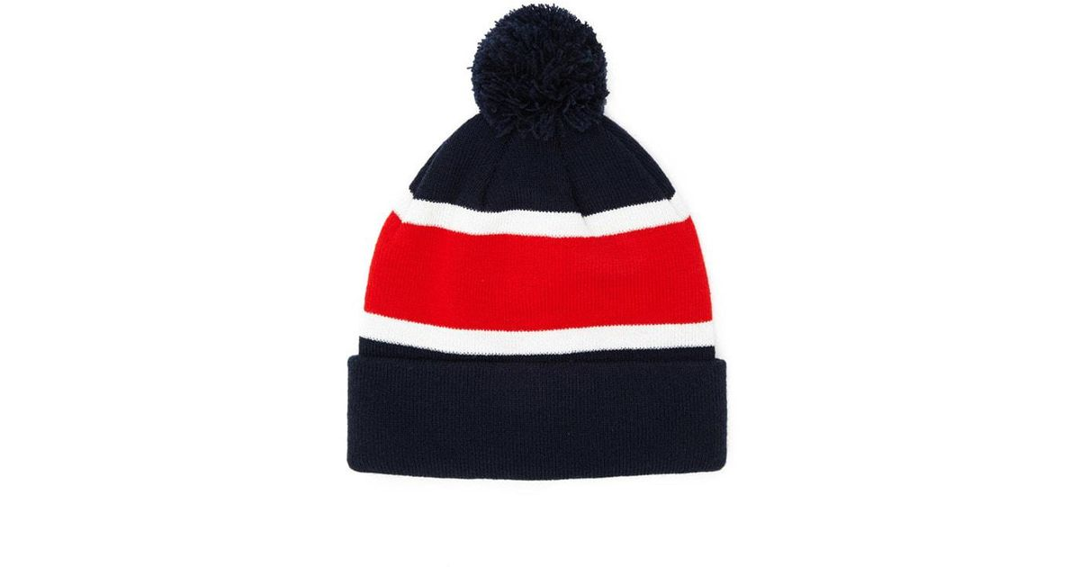 Lyst - Forever 21 Men Colorblock Pom Pom Beanie in Blue for Men 6b5887ce0af