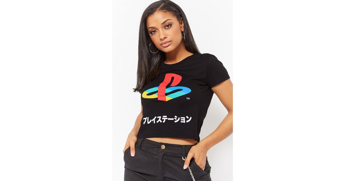 847c59f92051 Forever 21 Playstation Graphic Tee in Black - Lyst