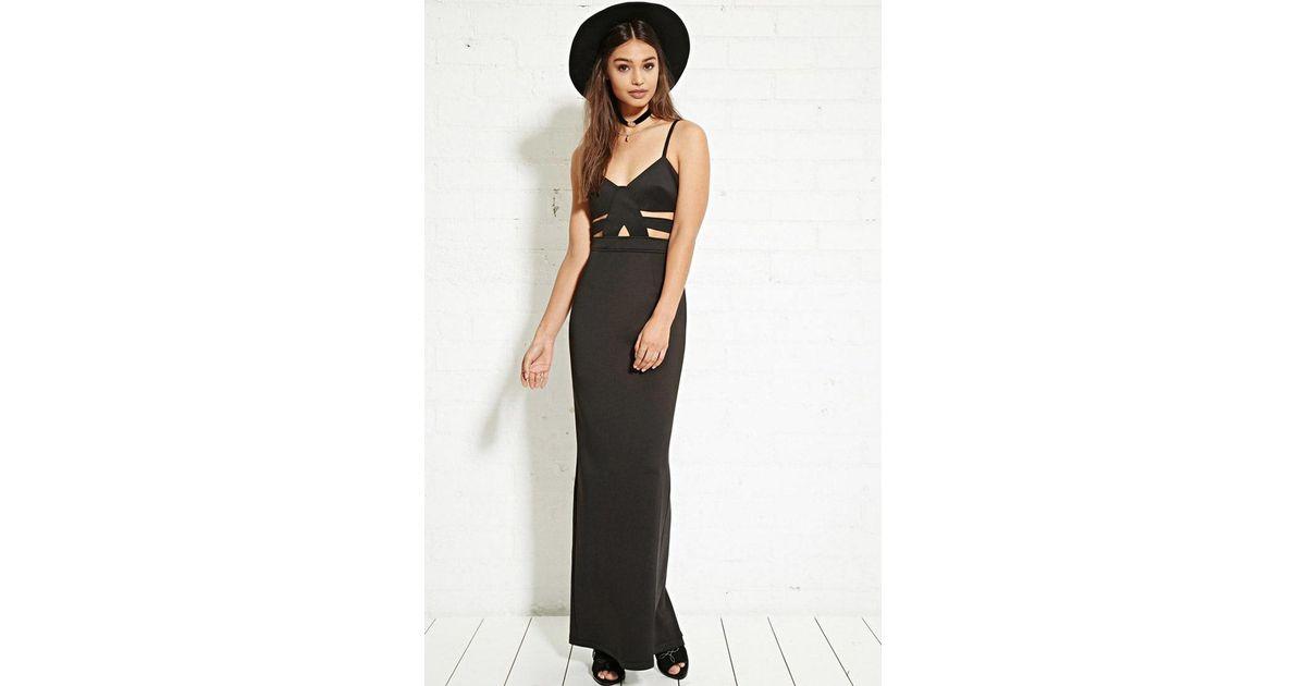 d6343f0a685 Lyst - Forever 21 Nightwalker Cutout Maxi Dress in Black