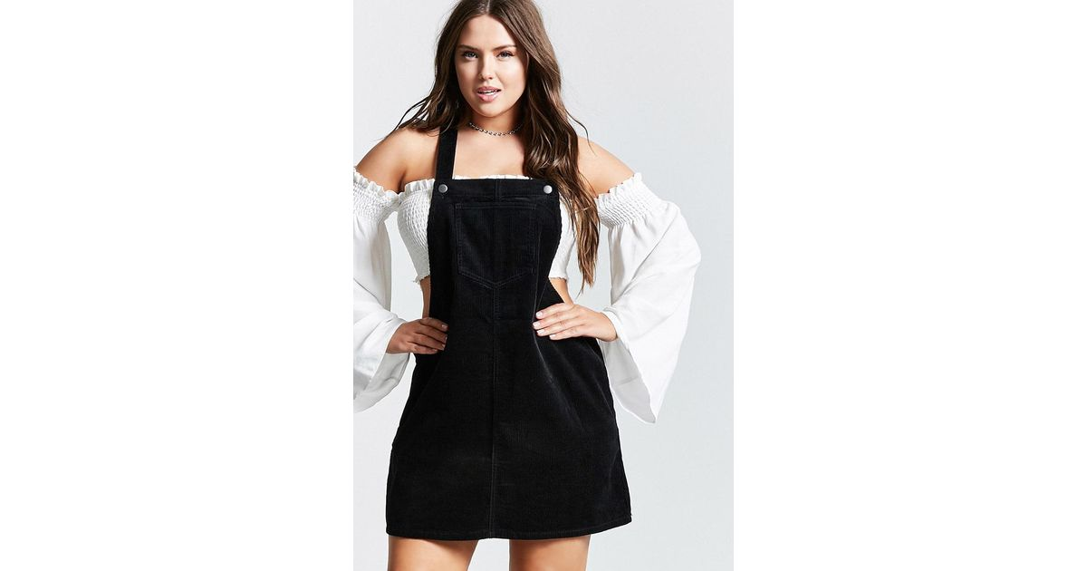 Lyst Forever 21 Plus Size Overall Dress In Black