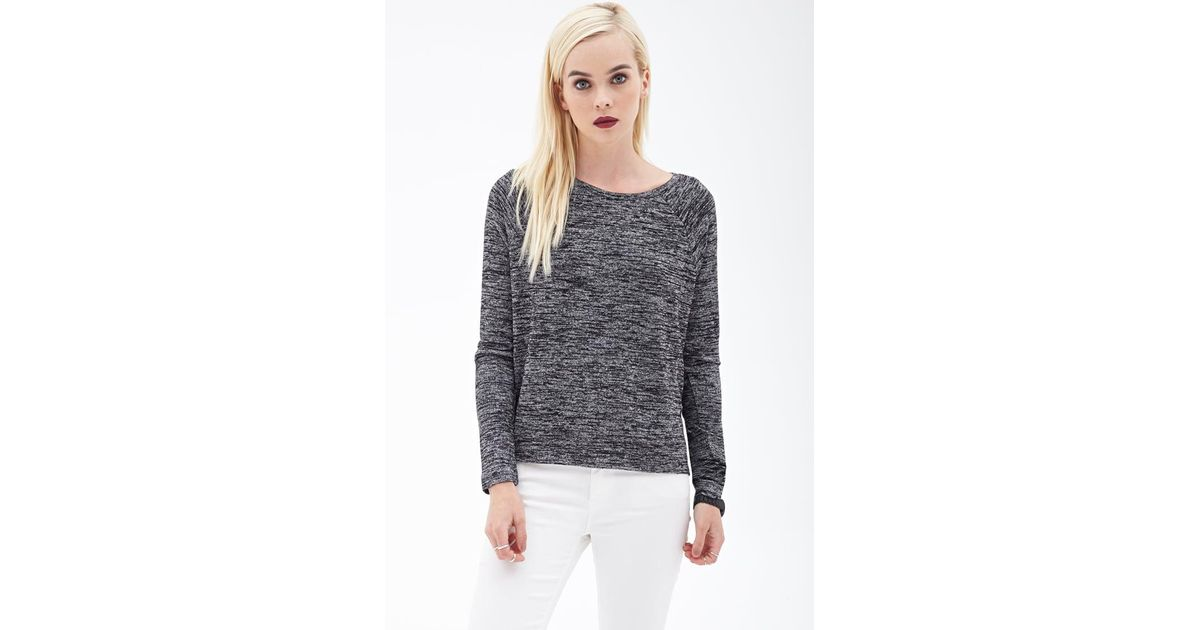 162b8f5bb9815b Forever 21 Marled Knit Sweater in Gray - Lyst