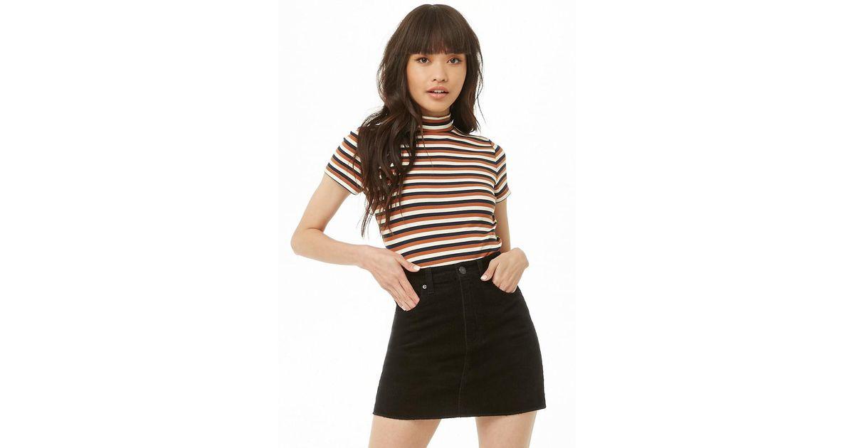 b32ffb7d4e Lyst - Forever 21 Corduroy Mini Skirt in Black