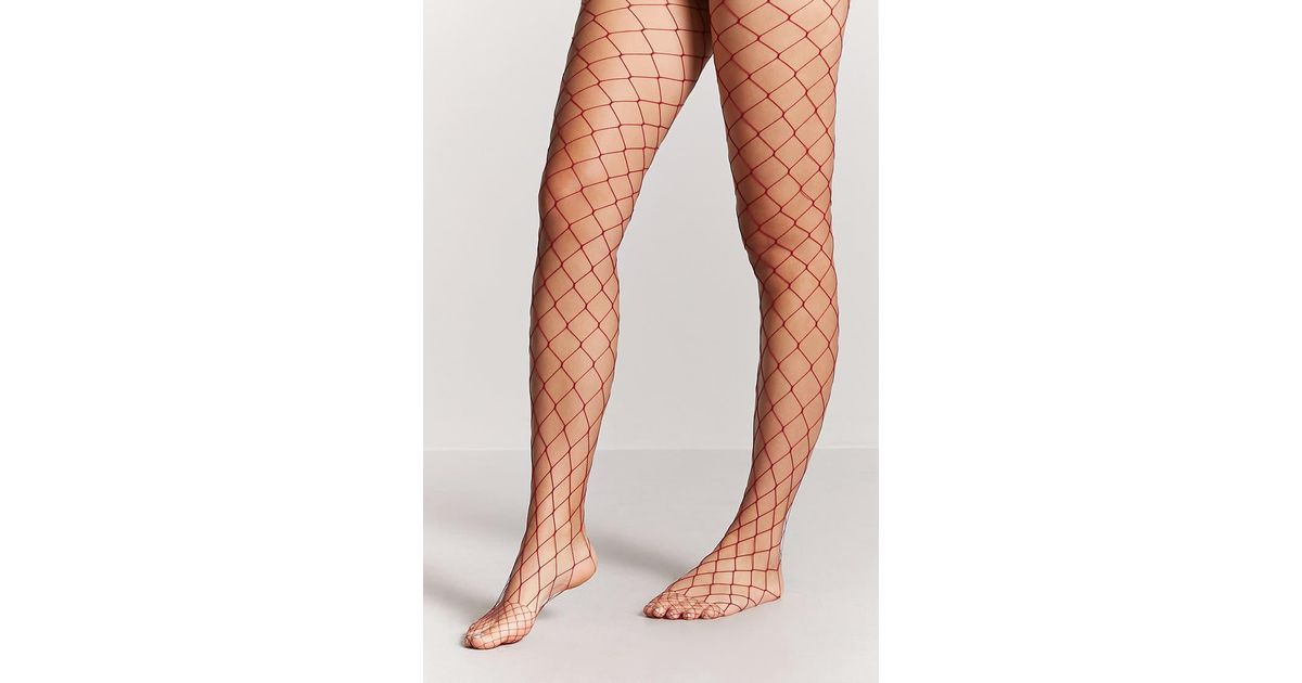 0ca424f9b Forever 21 Wide-fishnet Tights - Lyst