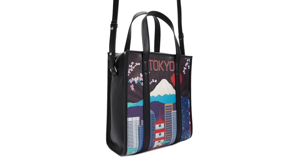 fc1e9a74e521a1 Forever 21 Tokyo Graphic Satchel in Black - Lyst