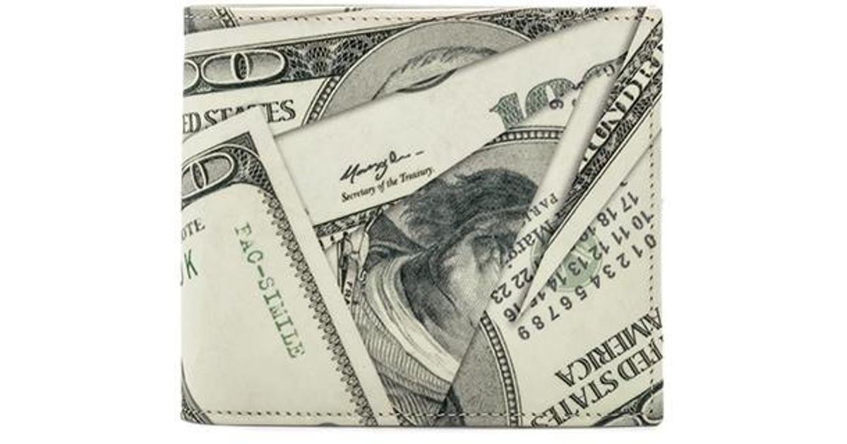 Maison Margiela Dollar print billfold wallet Sale Many Kinds Of Cheap Sale Best Sale S0NH6