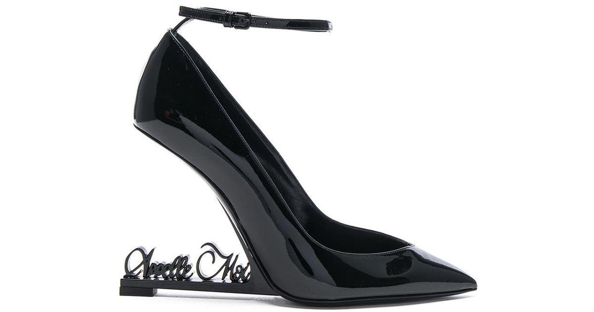 3efafdff9d1cb Lyst - Saint Laurent Opium Patent Leather Appelle-moi Heels in Black
