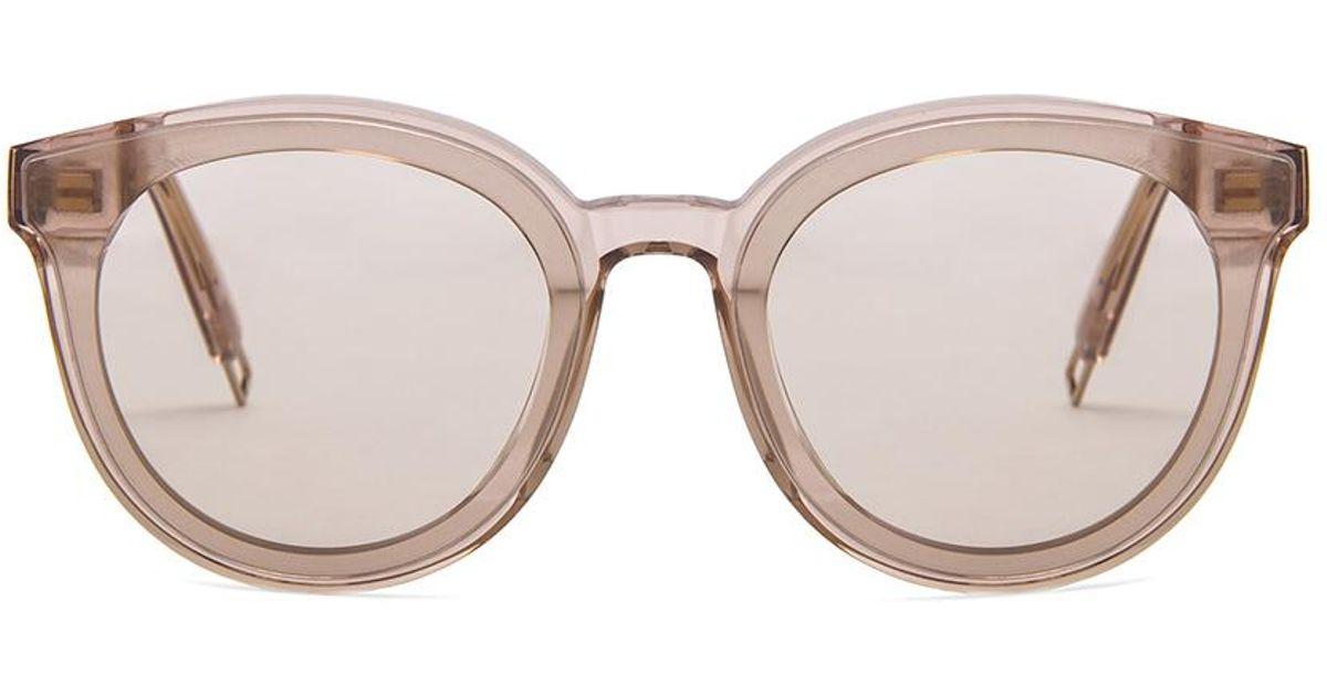 1726b142d6d6e Gentle Monster Black Peter Sunglasses - Lyst