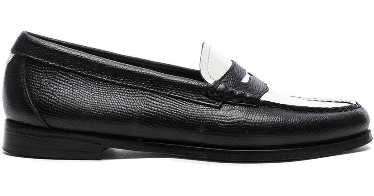 595efbda07f Lyst - RE DONE Flat Monochrome Lizard Loafers in Black - Save 49%