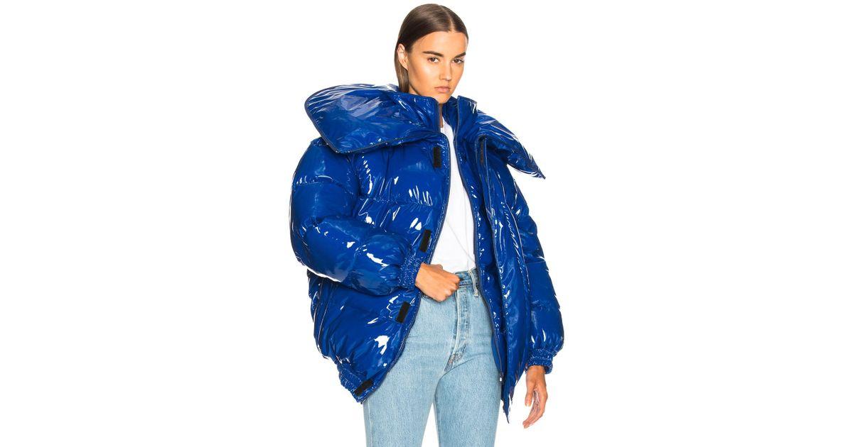 6d39116fc453 Lyst - Vetements Puffer Jacket in Blue