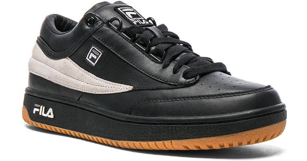 Gosha rubchinskiy X Fila T1 Mid Leather Sneakers in Black | Lyst