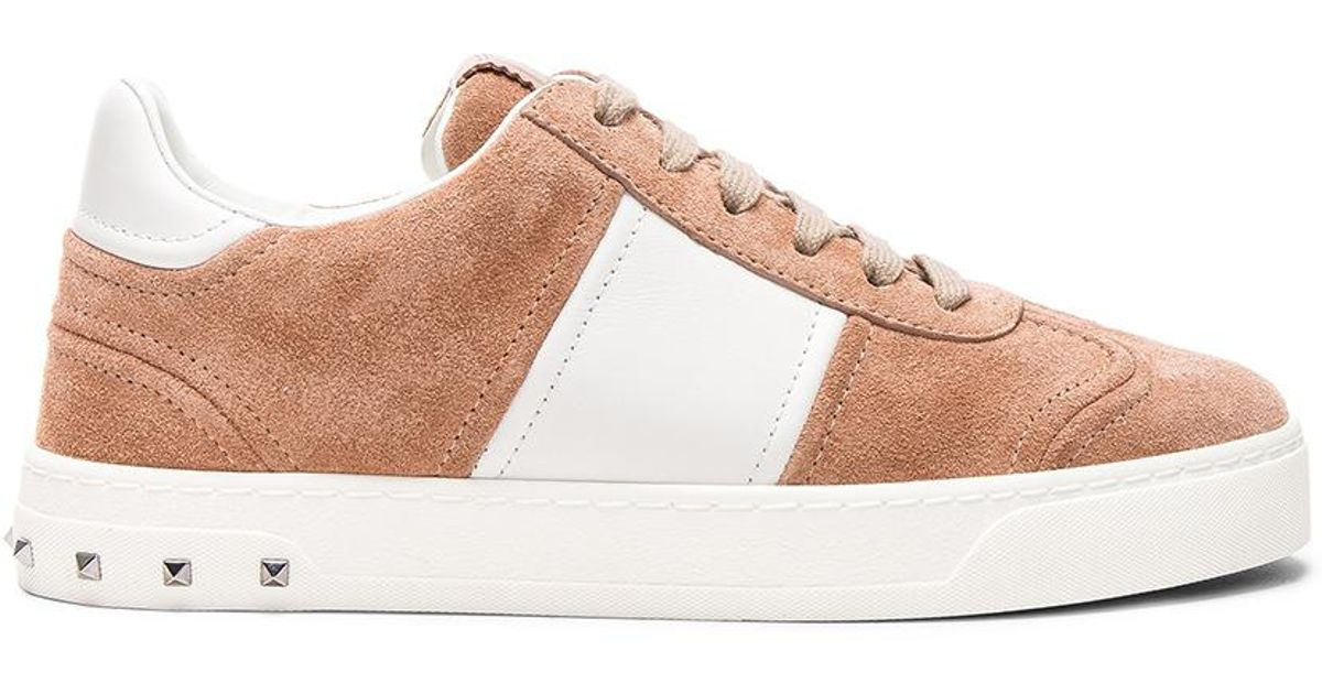 Valentino Suede Fly Crew Sneakers in & Skin Sorbet Official Site Cheap Online Sale Best Sale Clearance Choice Buy Cheap Supply NEnRTnGQ2x
