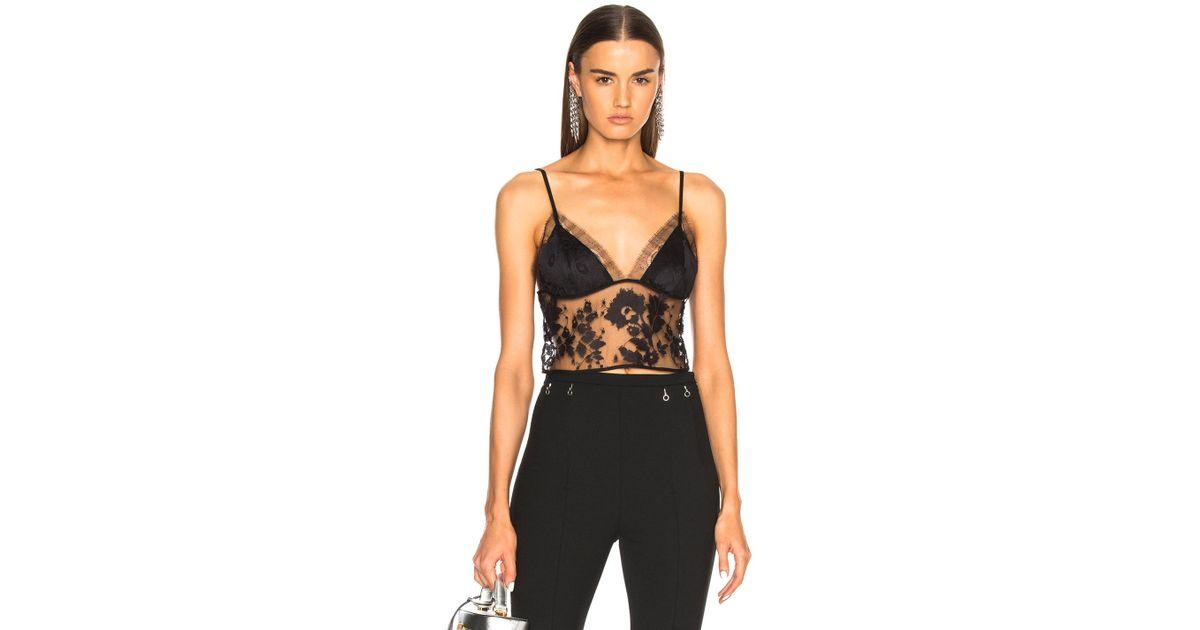 78284a93d6c Michelle Mason Lace Crop Cami Top in Black - Lyst