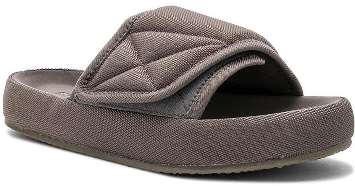 3a3346b9341 Yeezy - Brown Nylon Slippers - Lyst