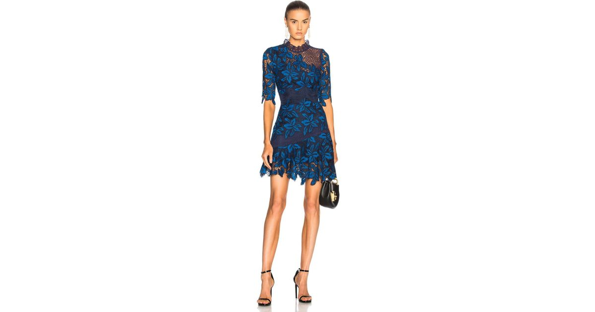 248b6b3986c Sea Mixed Lace Dress In Blue Multi in Blue - Lyst