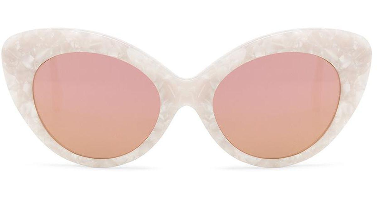 Agnes Sunglasses in White Roberi & Fraud LSyY4L