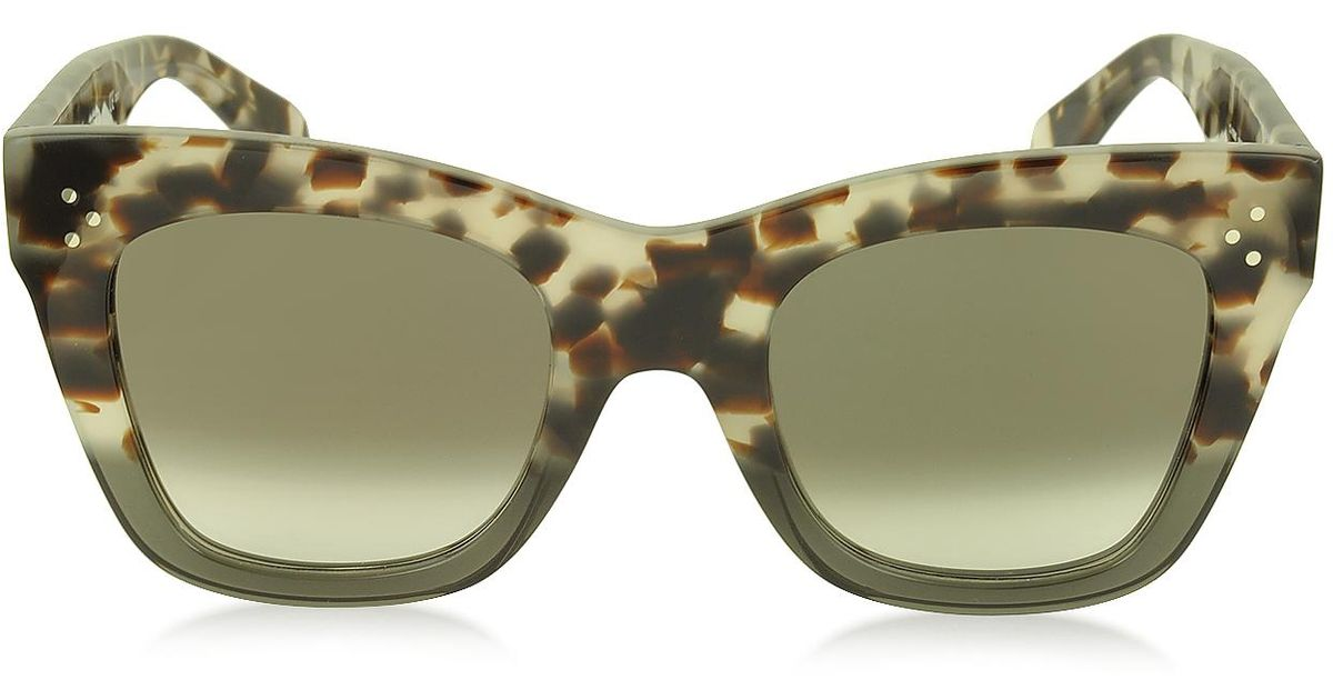 b83a70b43e0e0 Lyst - Céline Catherine Cl 41090 s Acetate Cat Eye Women s Sunglasses in  Gray