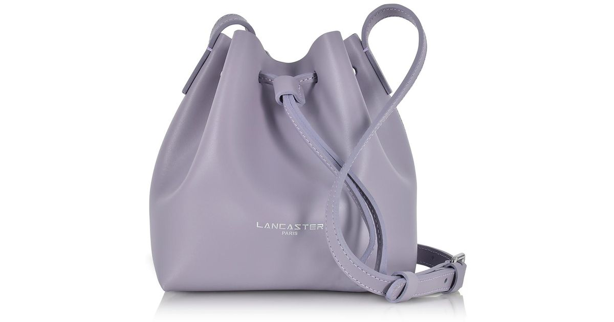 Lyst - Lancaster Paris Pur Smooth Leather Mini Bucket Bag in Purple