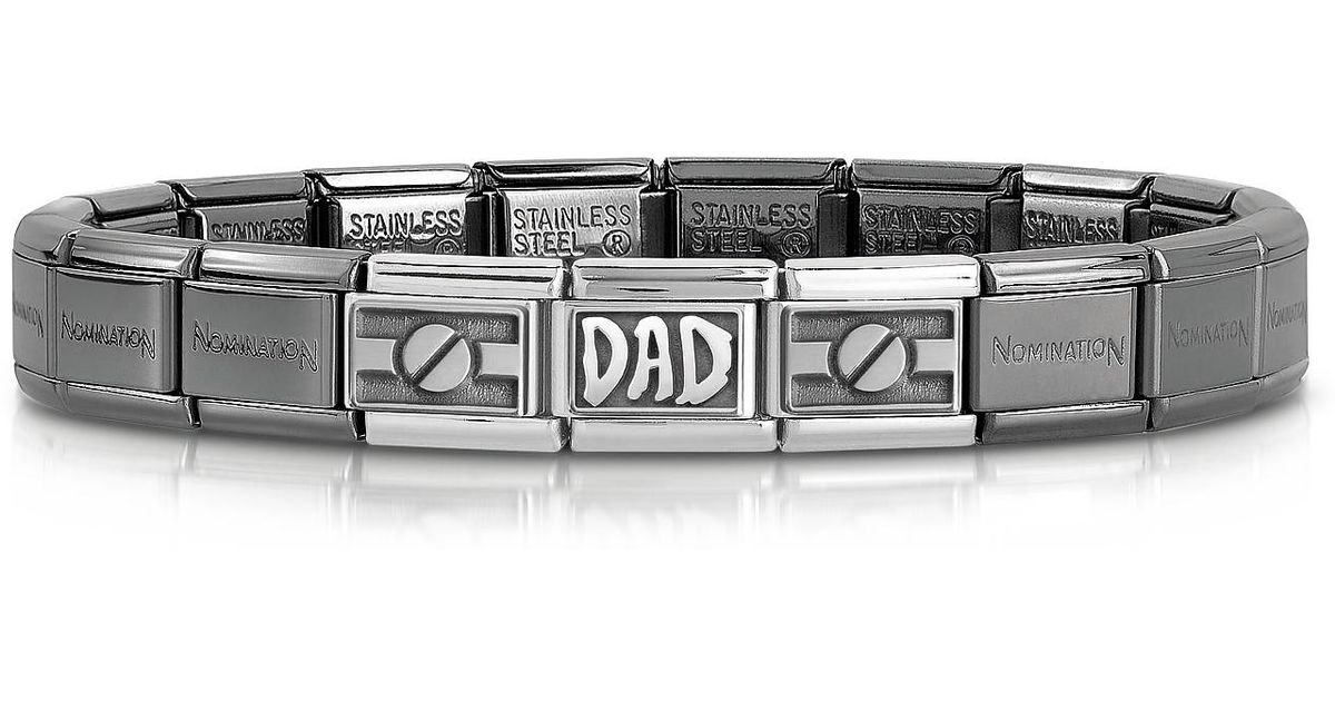 Nomination Classic Dad Composable Stainless Steel And Sterling Silver Men s  Bracelet in Black for Men - Lyst 32c72a700e41