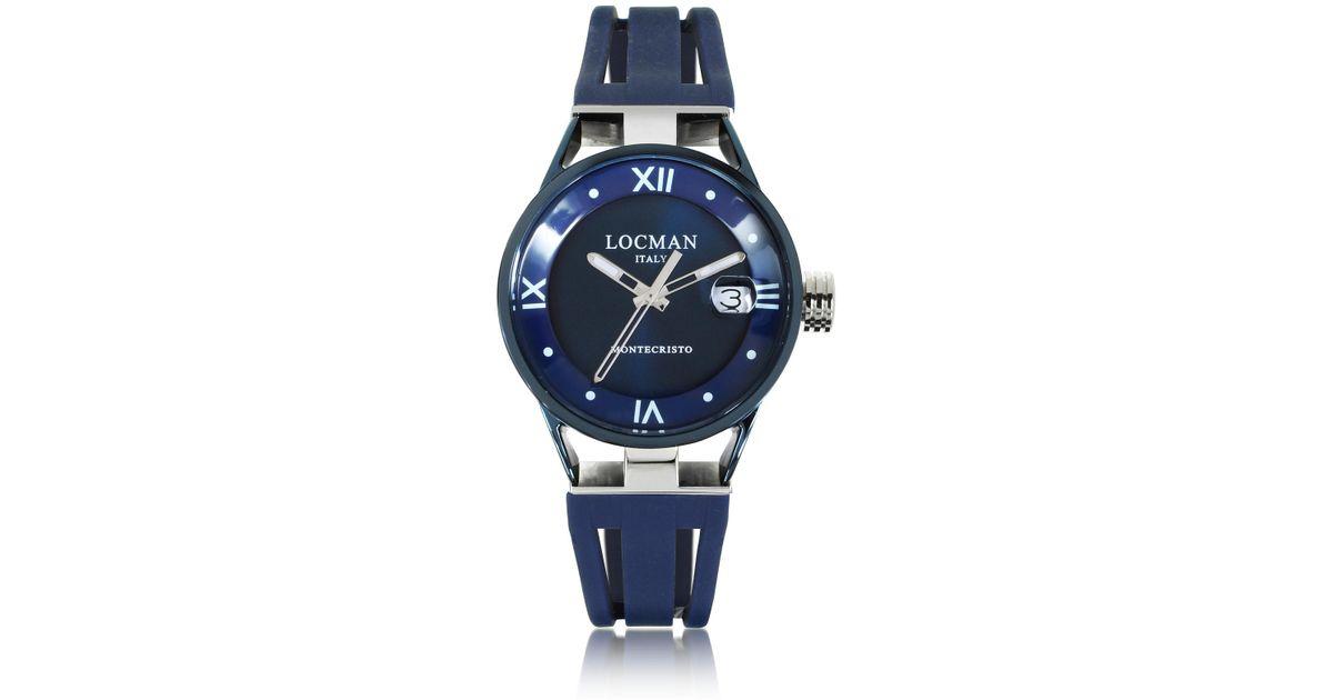 7bdcda8ea0c5 Montecristo Reloj en Acero y Titanio con Correa en Goma de Silicona LOCMAN  de color Azul - Lyst