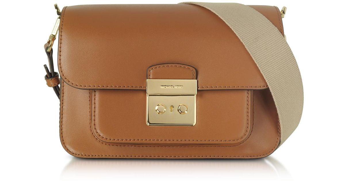 2ef3ed0974 Lyst - Michael Kors Sloan Editor Large Acorn Leather Shoulder Bag in Brown