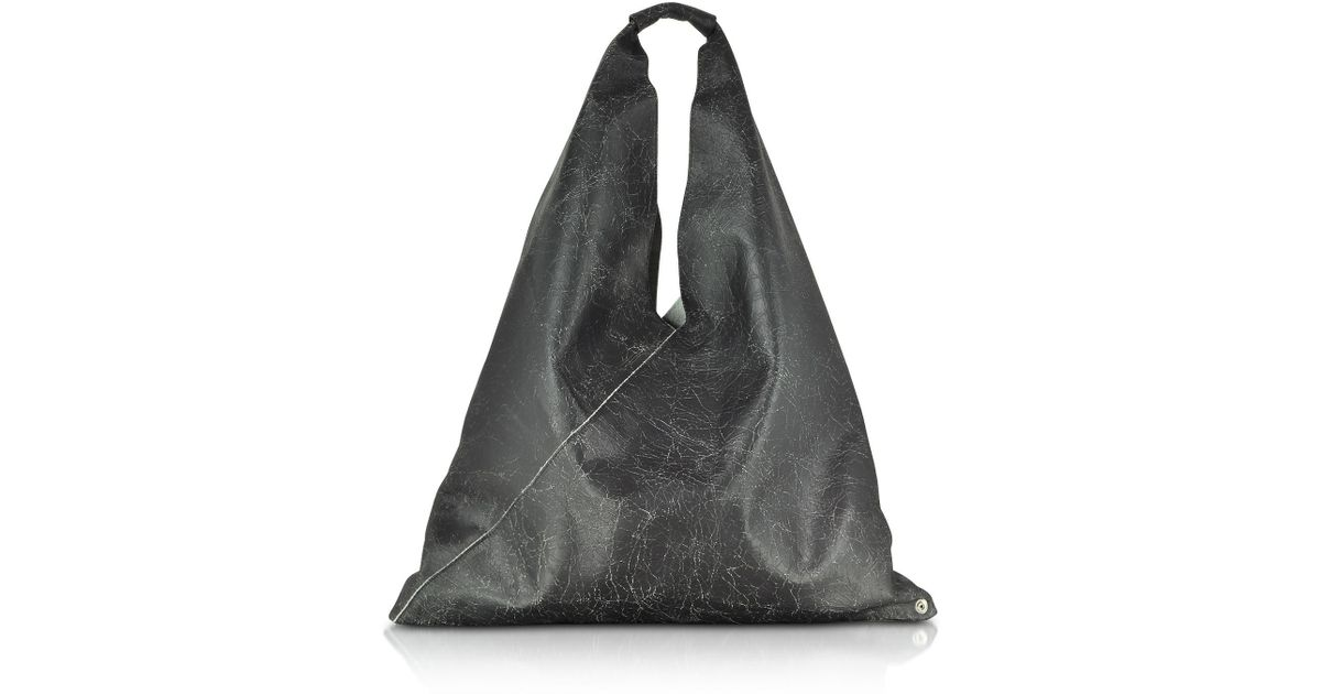 mm6-by-maison-martin-margiela-black-Black-Crackled-Leather-Japanese-Tote-Bag .jpeg 8d208dbe0de