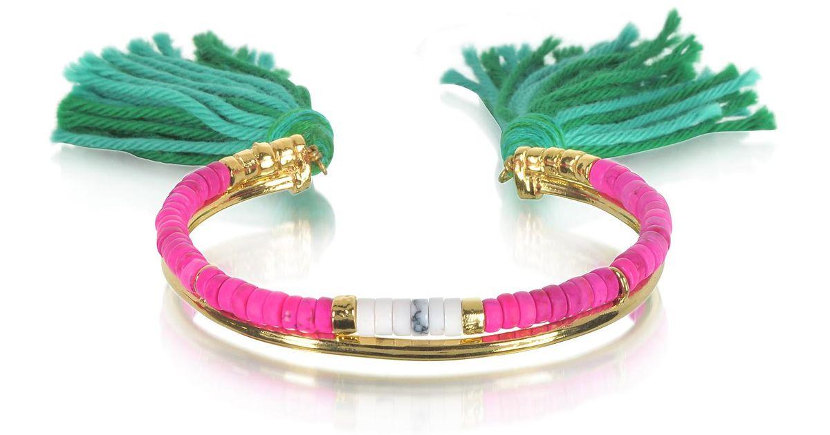 Aurélie Bidermann Copacabana Bracelet in Geranium 18K Gold-Plated Brass UzVN1GFAT