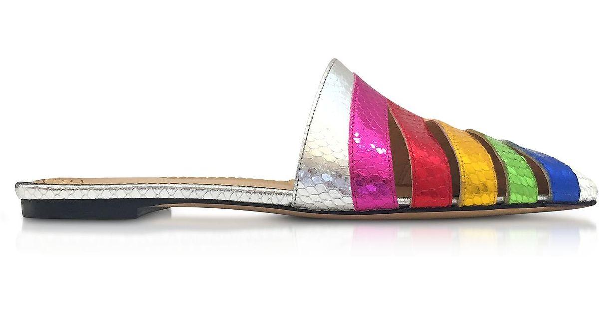 Charlotte Olympia Glisse Technicolor - Métalliques JehK01