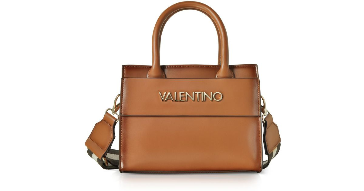 Lyst - Valentino By Mario Valentino Small Blast Eco Leather Tote Bag in  Brown 2ab274cbbdb02