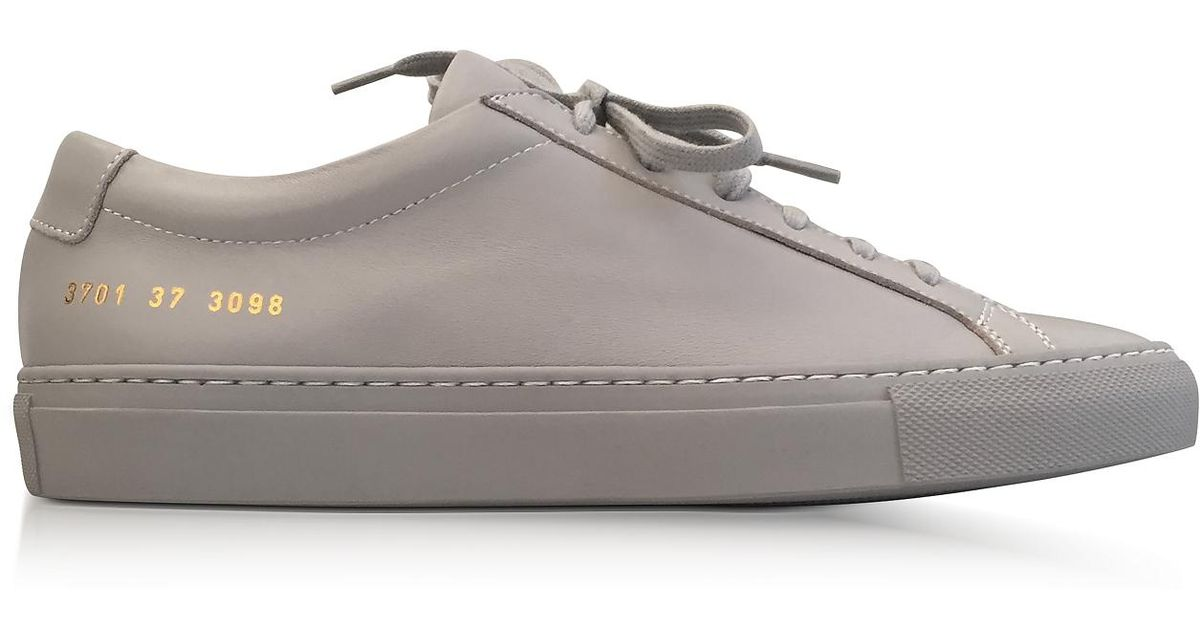 Common Projects Ash Leather Achilles Original Low Top Women s Sneakers in  Gray - Lyst 68010068d