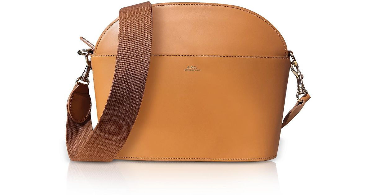 ff9422588fd1 A.P.C. Genuine Leather Gaby Shoulder Bag in Brown - Lyst