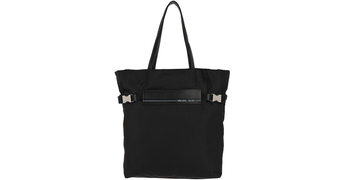 306cc44b0b Lyst - Prada Logo Tote Bag 2 Nylon Black in Black
