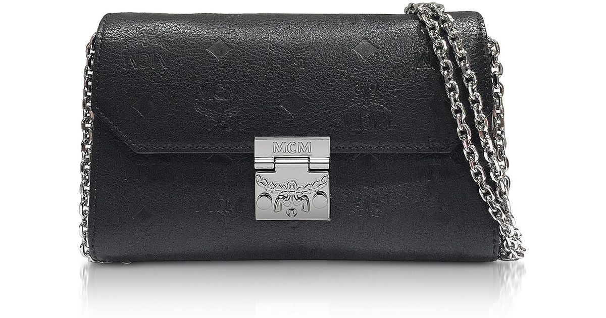 846f2ff8a Lyst - MCM Black Millie Monogrammed Leather Small Crossbody Bag in Black