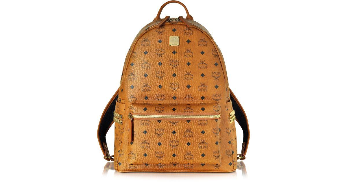 e8838a7b9 Lyst - MCM Medium Stark Cognac Backpack in Natural