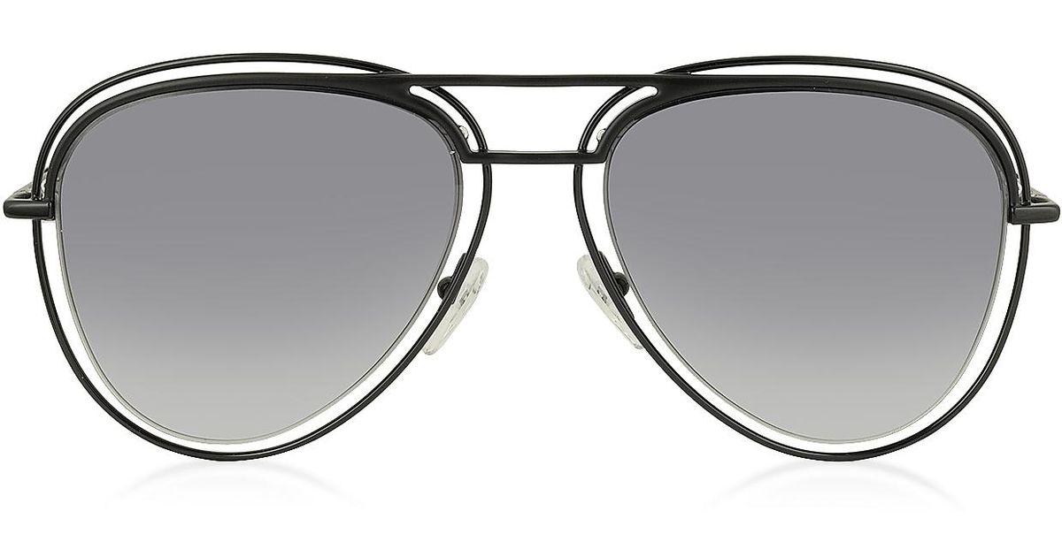 3187c614d80d Lyst - Marc Jacobs Marc 7/s Metal & Acetate Aviator Women's Sunglasses in  Black