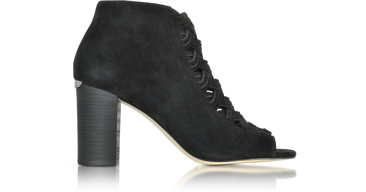 ERb7A4lH0G Designer Shoes, Westley Peep-Toe Suede Ankle Boot