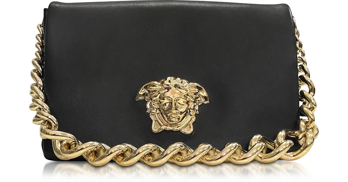 548deba910fb Versace Palazzo Black Shoulder Bag W golden Medusa   Chain in Metallic -  Lyst