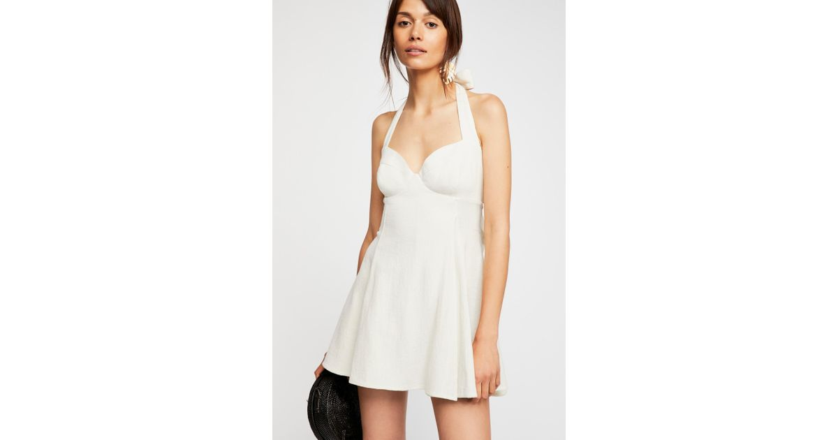 1d47bbdf83e8 Lyst - Free People She Can Shimmy Skort Romper By Endless Summer in White