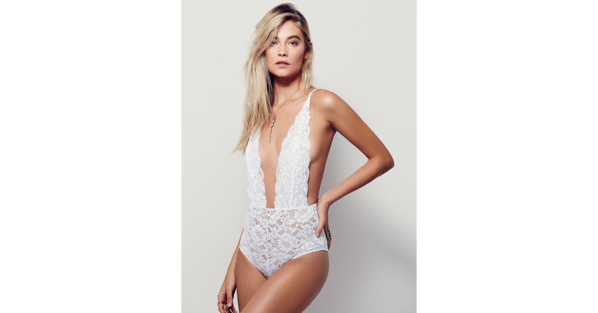 Free People | White Comin' In Haht Bodysuit | Lyst