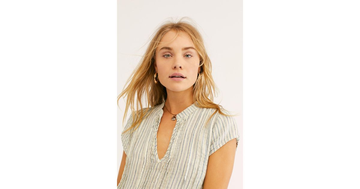 c18b131f601 Free People River Linen Stripe Tunic By Cp Shades - Lyst