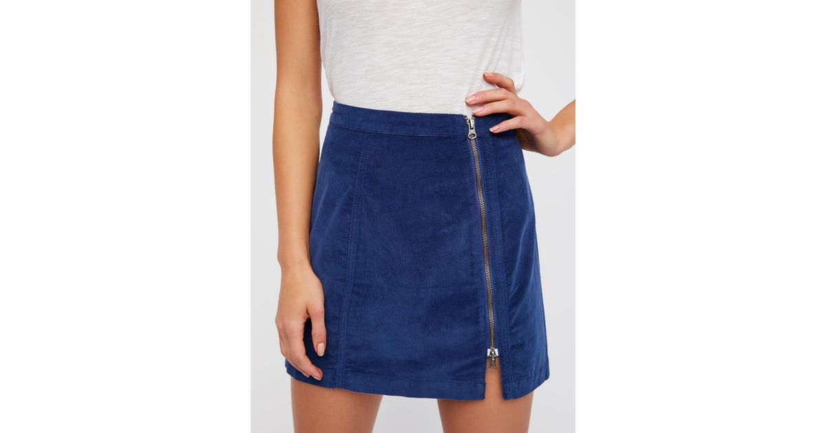 6305af9337 Free People This Way Or That Cord Mini Skirt - Lyst