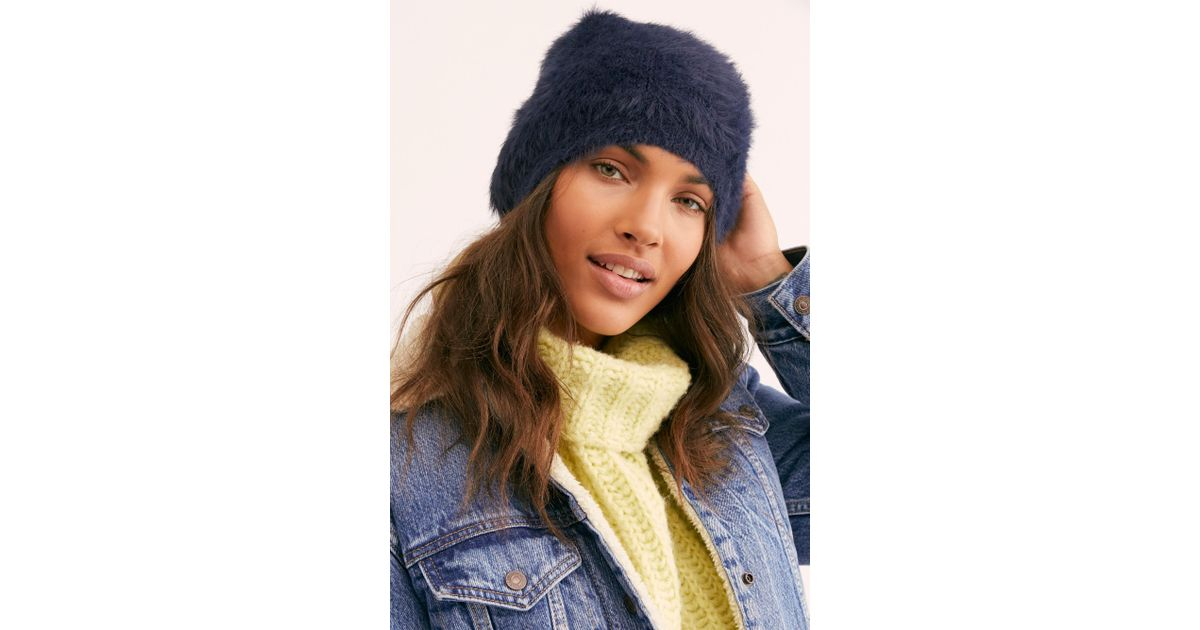 Lyst - Free People Fp One Big Sky Slouchy Beanie in Blue e7d8cd2168e