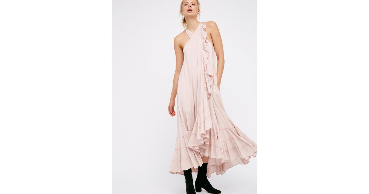 Lyst Free People Wrap Around Maxi Dress In Pink