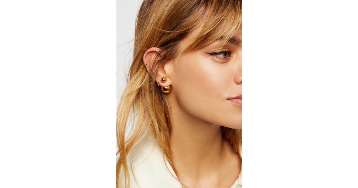 2aee605ea Free People Double Sided Orbit Stud Earrings By Sterling Forever Jewellery  in Metallic - Lyst