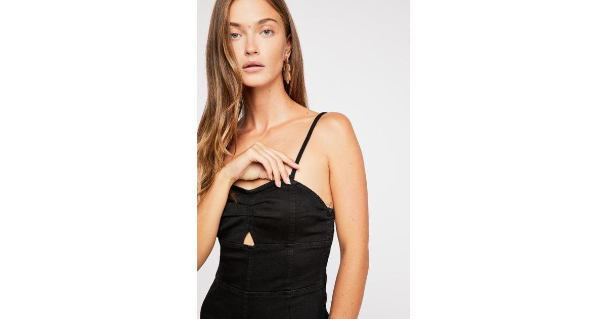 2ca655740a8 Lyst - Free People Lydia Jumpsuit in Black